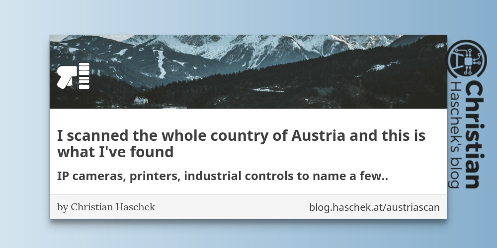 QnA VBage I scanned the whole country of Austria and this is what I've found