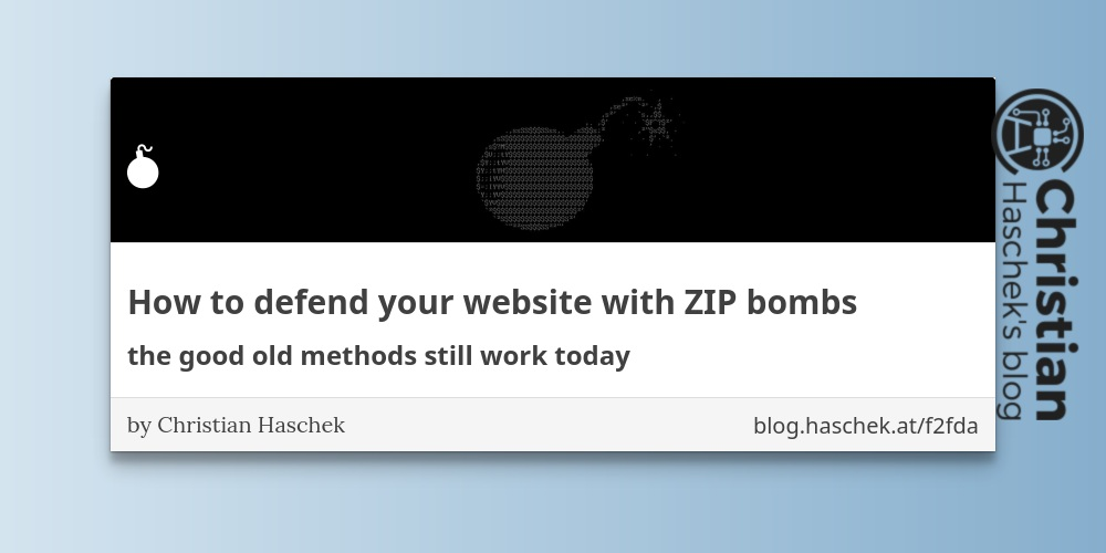 How to defend your website with ZIP bombs