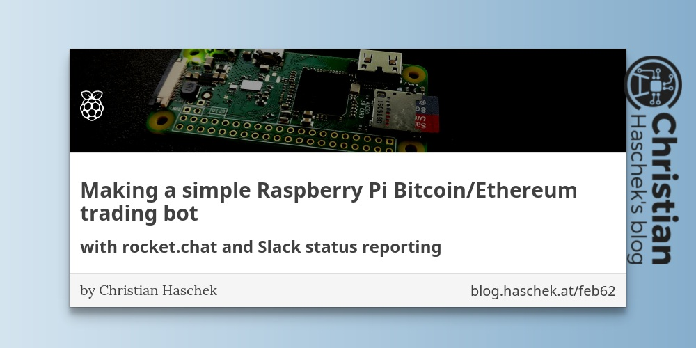 Making a simple Raspberry Pi Bitcoin/Ethereum trading bot