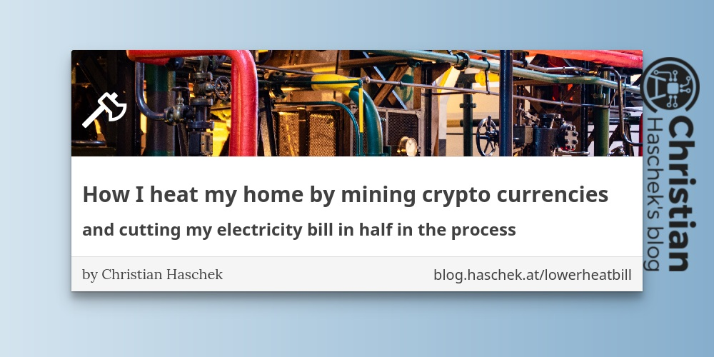 How I heat my home by mining crypto currencies